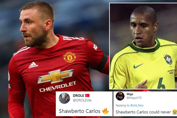 Carlos reveals how he felt about Shawberto Carlos. Brazilian legend Roberto Carlos has revealed how he feels about Luke Shaw after fans nicknamed the Manchester United & England international.